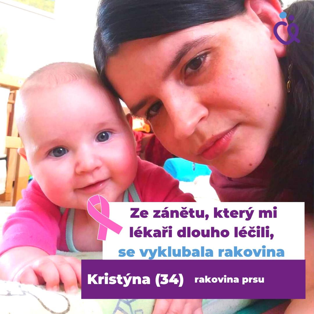 Mladá maminka Kristýnna, která prodělala rakovinu prsu se svojí dcerkou